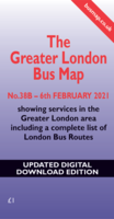 The Greater London Bus Map 38B