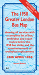 The 1958 Greater London Bus Map Second Edition