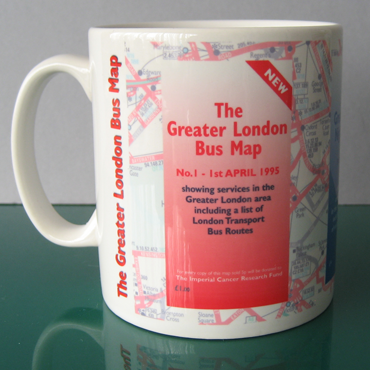 The Greater London Bus Map Mug