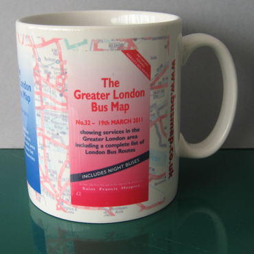 The Greater London Bus Map Mug view of Map No. 32