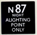 N87 Alighting Point 'e' plate